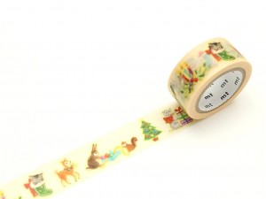 Taśma washi masking tape mt - Christmas Animals