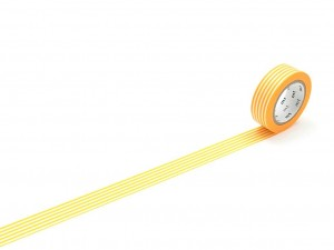 Taśma washi masking tape mt - Border Yellow
