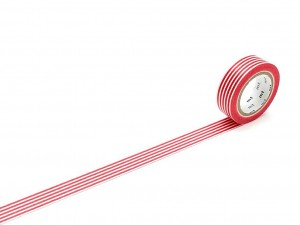 Taśma washi masking tape mt - Border Red