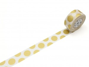 Taśma washi masking tape mt - Dot Gold
