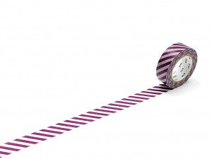 Taśma washi masking tape mt - Stripe Purple
