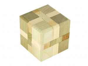 Wooden puzzles - cube [ Japan gift ]