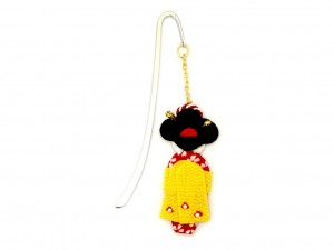 Bookmark Maiko - yellow obi [ Japan gift ]