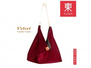 Torba AZMA Velvet Wine Red