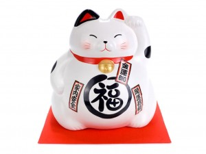 Large Maneki Neko moneybox - Happiness [ Japan gift ]